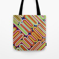 70s Tote Bags featuring 70s Kitsch by Roberlan Borges
