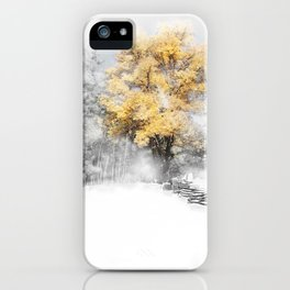Wind Gust on a Fall Day after the Snow iPhone Case