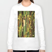 camo Long Sleeve T-shirts featuring CAMO MIX by originalitypieces