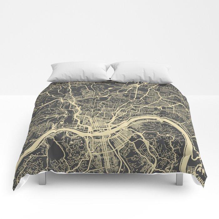 Cincinnati Yellow Comforters