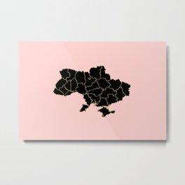 Ukraine map Metal Print