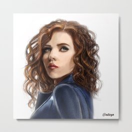 Black Widow....Avengers....Marvel.... Metal Print