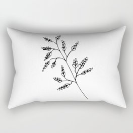 Branch White Rectangular Pillow