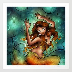 A Siren Caught Art Print