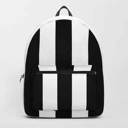 Black & White Vertical Stripes - Mix & Match with Simplicity of Life Backpack