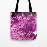 minerals Tote Bags featuring chase the miracle on minerals by mb13