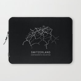 Switzerland Road Map Laptop Sleeve