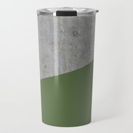 Concrete and Kale Color Travel Mug