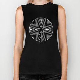 Cathedral of Our Lady of Chartres Labyrinth - Negative Biker Tank