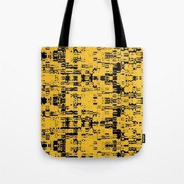 Black and Gold Circuit Board 2616 Tote Bag