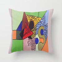 wild things Throw Pillows featuring Wild things by tmens