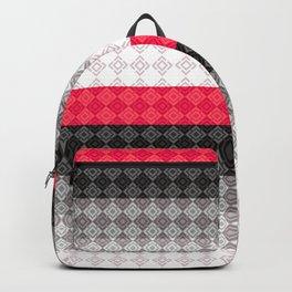 Striped geometric pattern Backpack