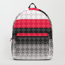 Striped geometric pattern Backpack