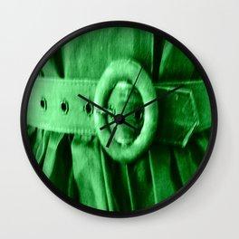 Green Vintage BELT Wall Clock