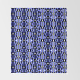 TECHNO BLUE TRIANGLES  Throw Blanket