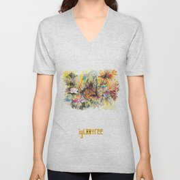 flower forest Unisex V-Neck