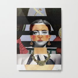 Frida Kahlo's Self Portrait Time Flies & Joan Crawford Metal Print