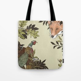 Fox & Pheasant Tote Bag