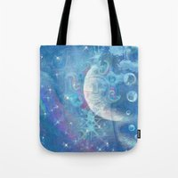 celestial Tote Bags featuring Celestial by Geni