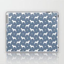boston terrier silhouette pattern Laptop & iPad Skin