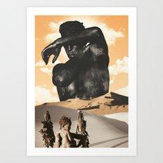 Desert King Art Print