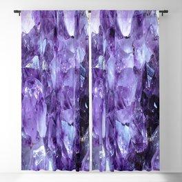 Amethyst Crystals Blackout Curtain