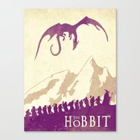the hobbit Canvas Prints featuring The Hobbit by WatercolorGirlArt