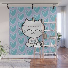 Lily Unicorn Kitty Wall Mural