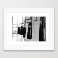 boxing Framed Art Prints featuring Boxing by Ashley Lynette Williams