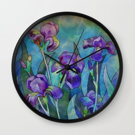 Fantasy Irises Wall Clock