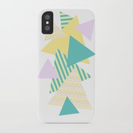Geometric - Triangles, Pastel Party iPhone Case