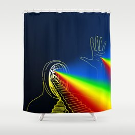 The Left Hand of Darkness (Sanslucence)  Shower Curtain
