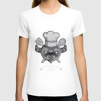 chef T-shirts featuring MONSTER CHEF by MostrOpi