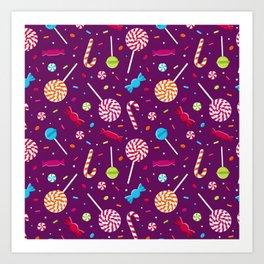 Delightful Candy Pattern Art Print