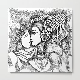 Couple in Love Metal Print