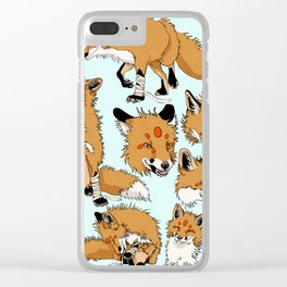 Lord Fox character design, color Clear iPhone Case