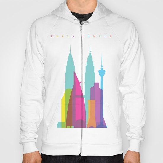 Shapes of Kuala Lumpur. Accurate to scale Hoody