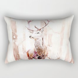 Winter Deer Rectangular Pillow