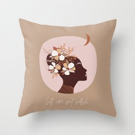 Self Love Woman Portrait #positivity Throw Pillow