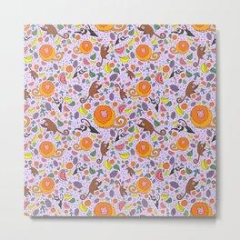 Cute Tropical Pattern Metal Print
