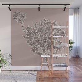 Chrysanthemum Purple Wall Mural