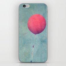 Red Balloon Zoom iPhone & iPod Skin