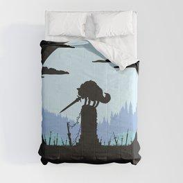 Grey Wolf Sif (Dark Souls) - in black Comforters