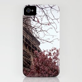 Eiffel Tower in Spring iPhone Case