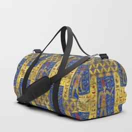 Egyptian  Gold  symbols on Lapis Lazuli Duffle Bag
