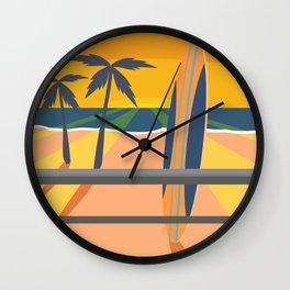 Palm Trees & Stuff Wall Clock