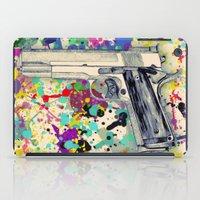 gun iPad Cases featuring Gun by Maressa Andrioli
