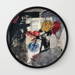 Mermaid Collage Wall Clock