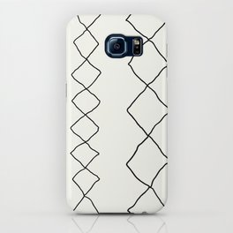 Moroccan Diamond Stripe in Black and White iPhone Case