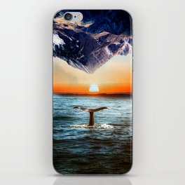 A whale and a morning iPhone Skin